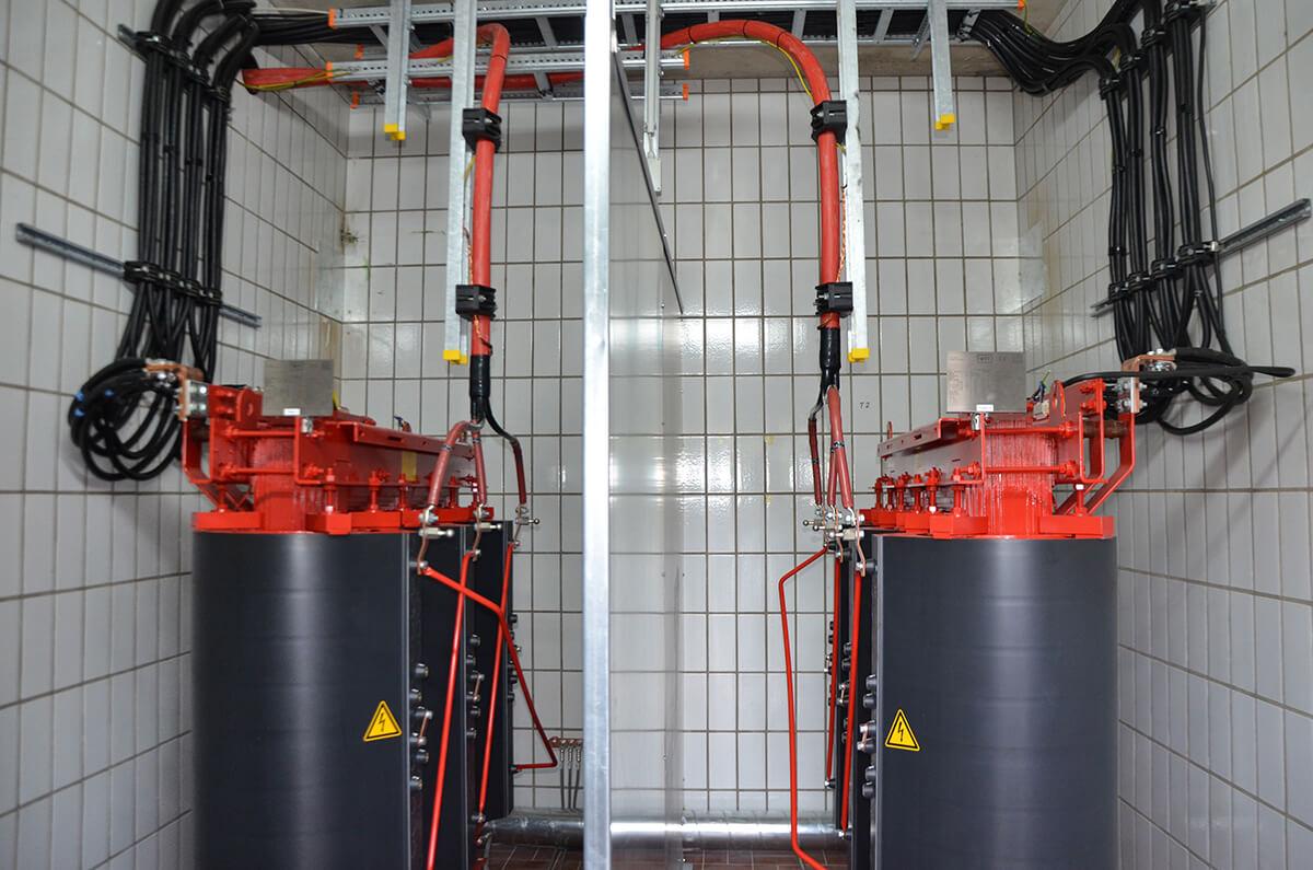 Neue Mittel- bzw. Niederspannungsschaltanlage