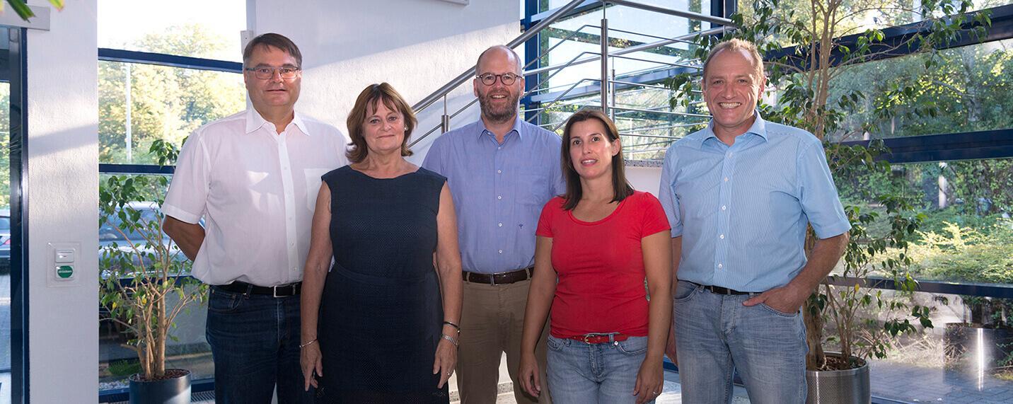 V.l.: Dr. A. Spiess, C. Windhäuser, F. Röttger, A. Booch, Dr. W. Paulus